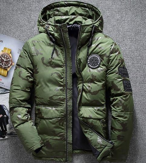9bf135b14d61a Мужская зеленая зимняя куртка, теплый мужской пуховик: продажа, цена ...