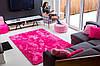 Плюшевий килим Шаггі 200x140 рожевий, фото 3