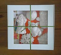 Новогодний набор гипсовых фигурок для творчества №25 Різдвяний набір гіпсових фігурок для творчості №25