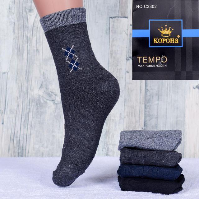 Подростковые махровые носки Корона С3302-1 30-36