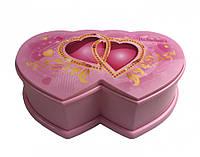 Детская Шкатулка музыкальная 8001-1 (Hello Kitty) (Сердца), фото 1