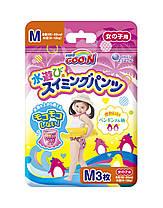 """Плавательные подгузники - трусики """"GOO.N"""", M (7-12 кг), для девочек, 3 шт"""