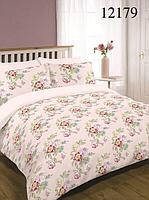 """Двухспальный комплект постельного белья """" Весенние цветы бежевые """""""