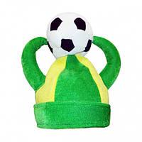 Шапка Футбол с рогами и мячом, Шапка Футбол з рогами і м'ячем,  Карнавальні головні убори