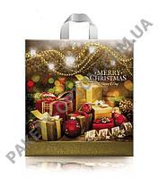 """Пакет с петлевой ручкой тип """"Диор"""" """"Рождественские подарки """" (38х42(+3)) 25 шт - 11"""