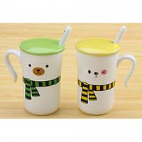 Чашки Happy everyday с шарфиками 2 шт, Чашки Happy everyday з шарфиками 2 шт, Оригинальные чашки и кружки