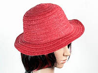 Соломенная шляпа Бебе 29 см красная, Соломенные шляпы