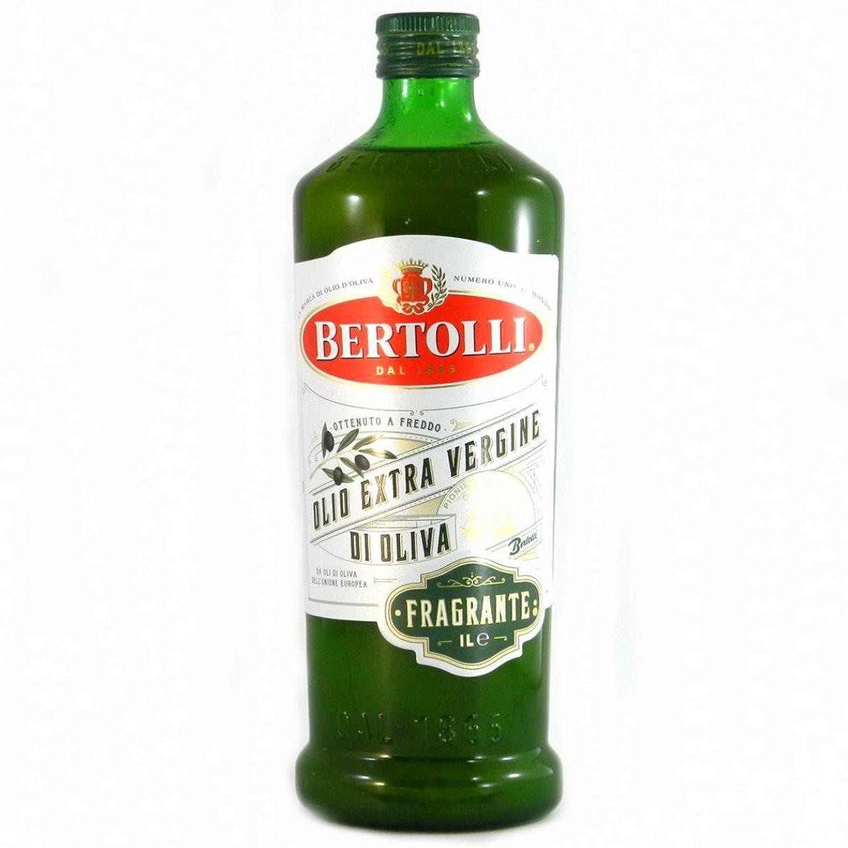 Натуральна олія оливкова першого холодного віджиму Bertolli Olio Extra Virgin di Oliva Fragrante, 1л Італія