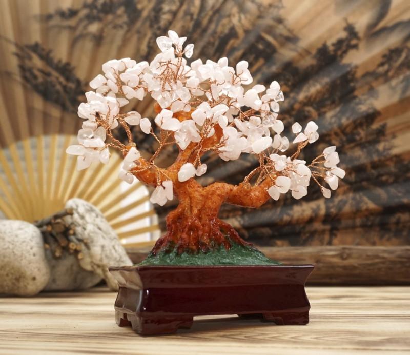 Дерево счастья «Розовый кварц»