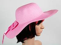 Соломенная шляпа Инегал 40 см розовый, Соломенные шляпы