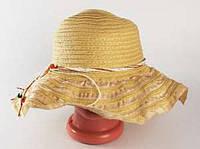 Соломенная шляпа Нэтьюэль 40 см бежевая, Солом'яний капелюх Нэтьюэль 40 см бежева, Соломенные шляпы