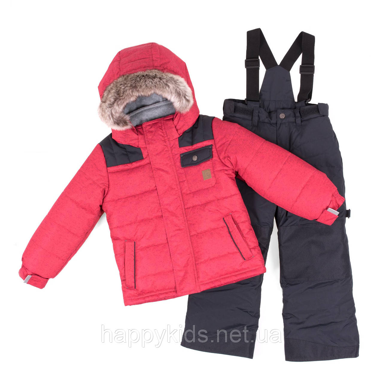 Зимний комплект для мальчика PELUCHE F18 M 63 EG Really Red / Deep Gray. Размеры 3-8.