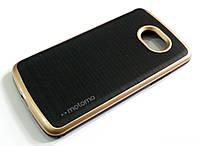 Чехол противоударный Motomo для LG K5 x220ds черный с золотым