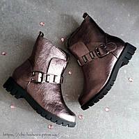 Бронзовые демисезонные ботинки 27