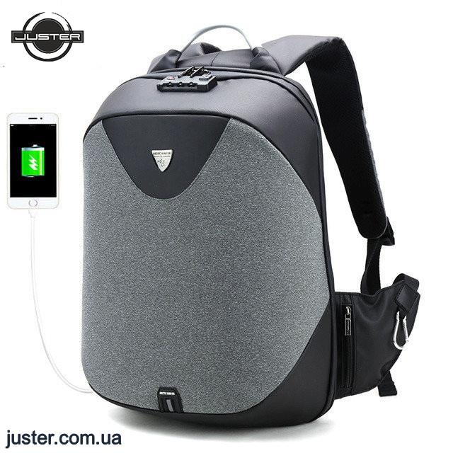 49d216d8ec7f Лучший городской рюкзак Arctic Hunter с защитой от краж, портом USB и  водозащитой (B00208