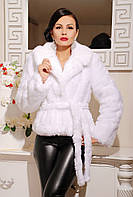 Женская шуба шаде белая, короткая шубка под норку