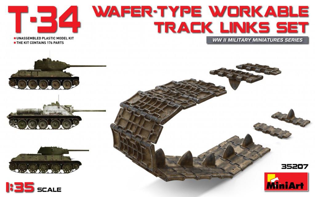 Набор рабочих траков для сборной модели танка T-34/85. 1/35 MINIART 35207