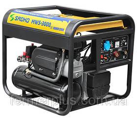 Бензиновая рабочая станция Sadko MWS-3000 (2,6 кВт, ручной стартер, сварочный апарат, компрессор)