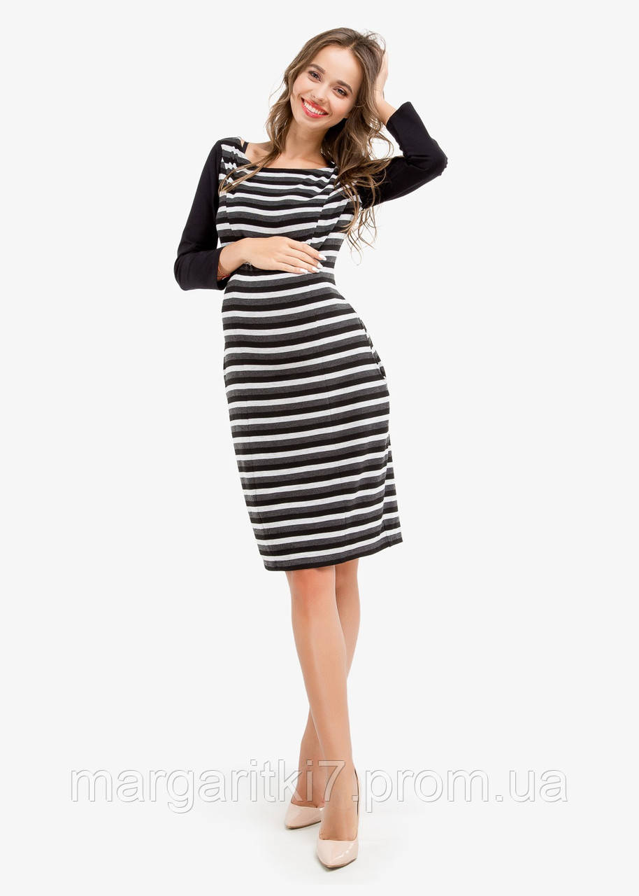 Платье для беременных и кормящих Creative Mama Stripe