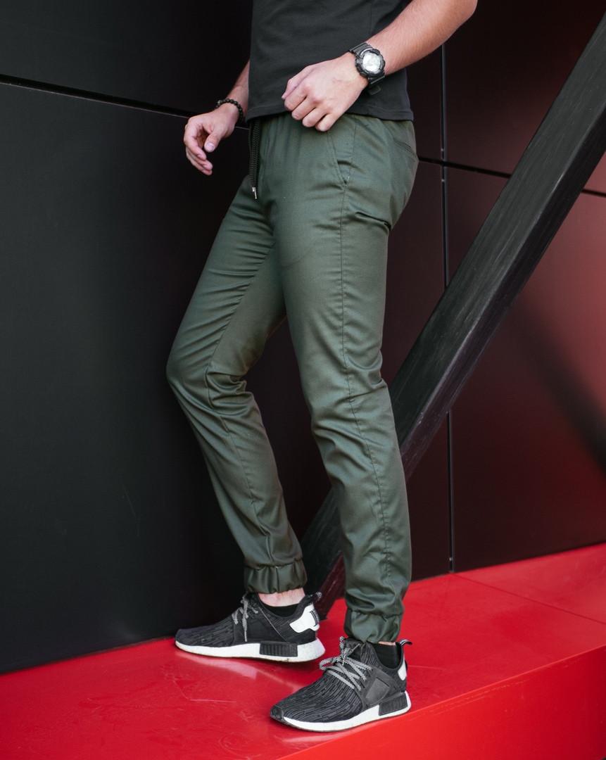 Штаны мужские Pobedov Cotton Pants стильные фирменные молодежные (хаки), ОРИГИНАЛ