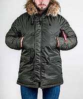 Мужская теплая зимняя куртка аляска Olymp, качественная зимняя парка
