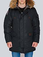 Зимняя мужская парка Olymp, теплая зимняя куртка, черная куртка