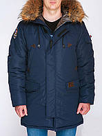 Практичная зимняя парка Olymp, мужская зимняя куртка синяя