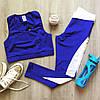 Синий костюм для фитнеса зала йоги тренировок