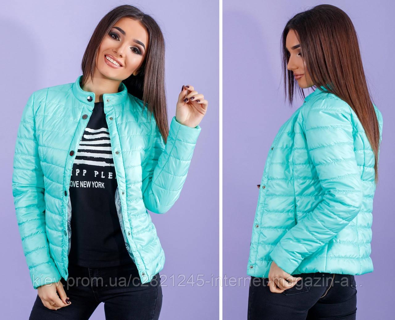 b4f43c85cda Стильная женская куртка весна   осень плащёвка + синтепон 100 ...