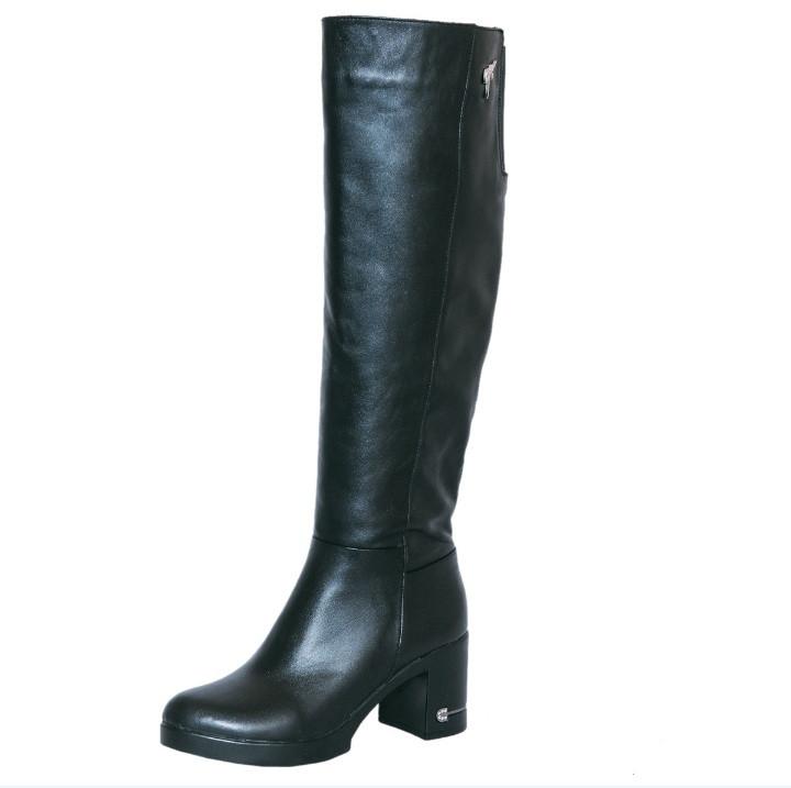 fd39f2bd8 Женские зимние кожаные сапоги на устойчивом каблуке (в наличии такие же из  натуральной замши)
