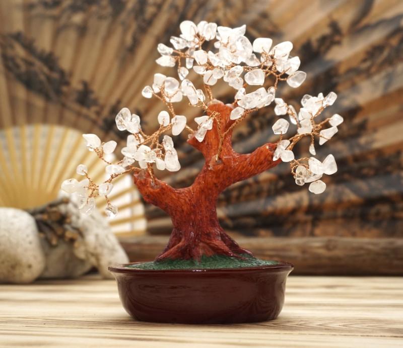 Дерево счастья с Горным хрусталем