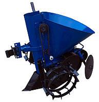 Картофелесажатель мотоблочный Кентавр К-1Л (синий) с транспортировочными колесами + доставка