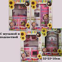 Мебель Кухня 4 вида, сервант, холодильник, плита, мойка, музыкальная для куклы