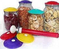 Вакуумная система для хранения и консервирования продуктов, Набір дорожніх сумок 5 шт (бежевий), Кухонные принадлежности