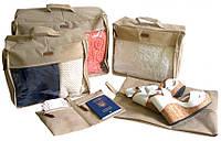Набор дорожных сумок 5 шт (бежевый), Набір дорожніх сумок 5 шт (сірий), Органайзеры для вещей и обуви