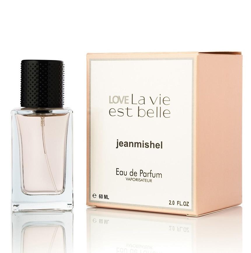 Женский Мини-парфюм Jeanmishel Love La Vie Est Belle (60 мл ) Квадратные № 90