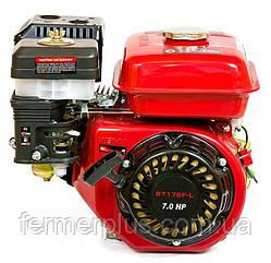 Двигатель бензиновый WEIMA BT170F-L (7,5 л.с., шпонка Ø20мм, L=52мм, редуктор)