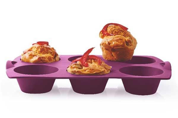 Силиконовая форма Кап-кейки Tupperware в фиолетовом цвете