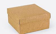 Подарочная коробка Крафт 14х14х7 см, Подарункова коробка Крафт 14х14х7 см, Подарочные коробки, Подарункові набори