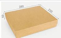 Подарочная коробка Крафт 28х23х5см, Подарункова коробка Крафт 28х23х5см, Подарочные коробки, Подарункові коробки