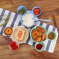 Миска Микки Маус со столовыми приборами, Миска Міккі Маус зі столовими приборами, Детская посуда, Дитячий посуд