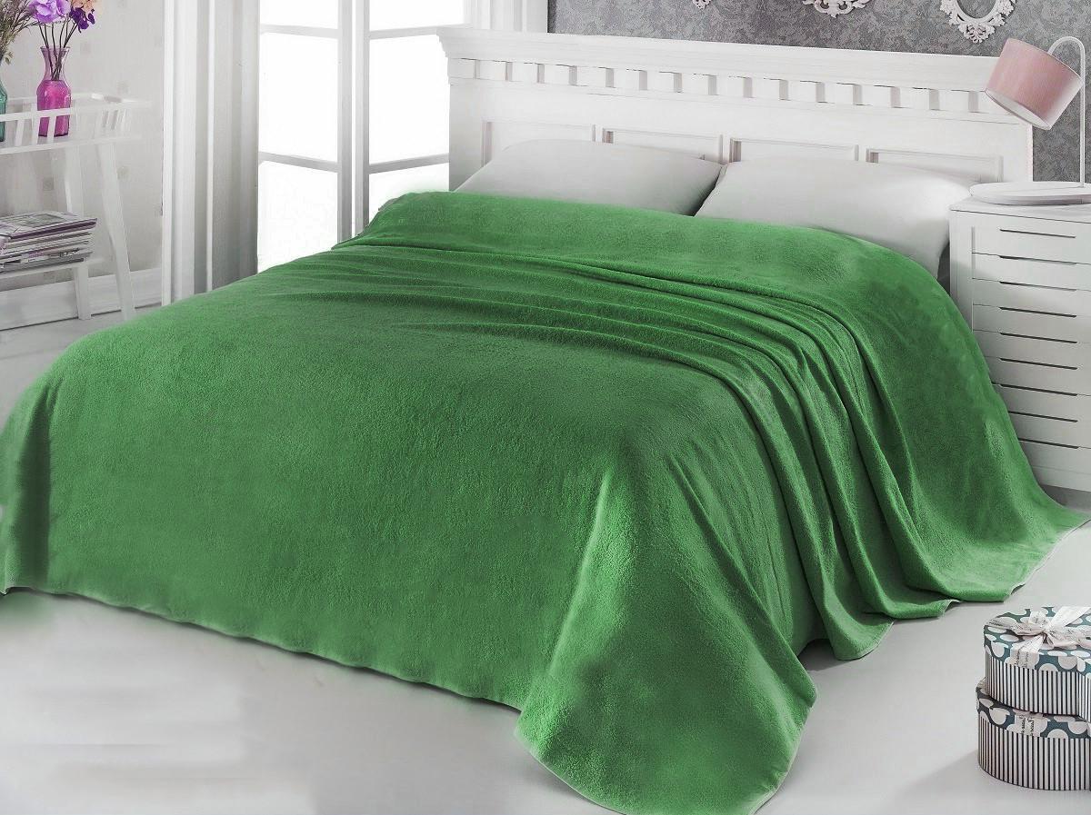 Простынь махровая 175х200 Зеленая