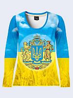 """Лонгслив 3D """"Большой герб Украины"""""""