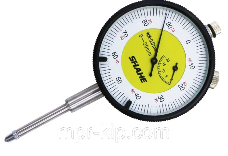 Індикатор годинникового типу ИЧ Shahe-20 0-20/0.01 мм (5301-20) без вушок