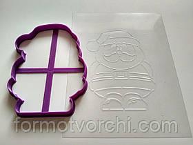 """3D формочки-вырубки для пряников """"Дед Мороз 5"""""""