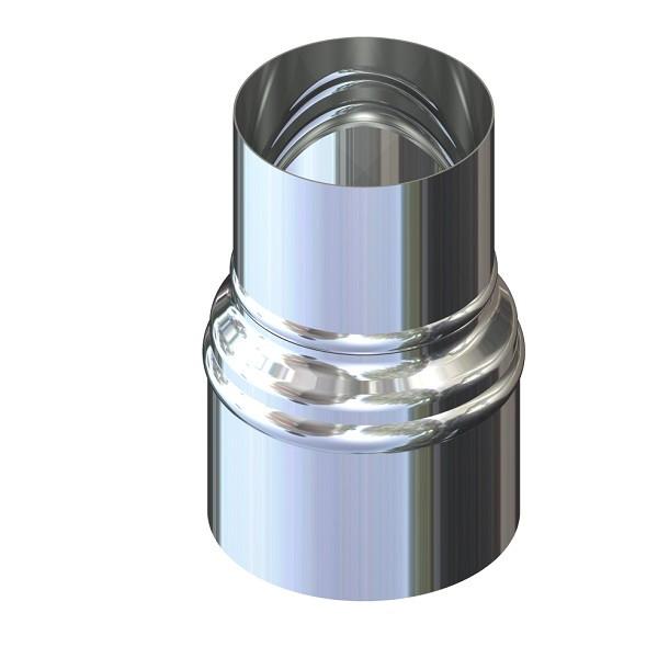 Переход для дымохода нержавейка D-100 мм толщина 0,8 мм
