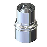 Перехід для димоходу нержавіюча сталь D-130 мм товщина 0,8 мм, фото 1