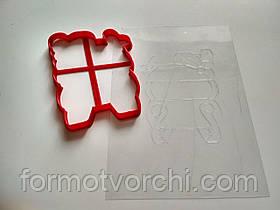 """3D формочки-вырубки для пряников """"Дед Мороз 6"""""""