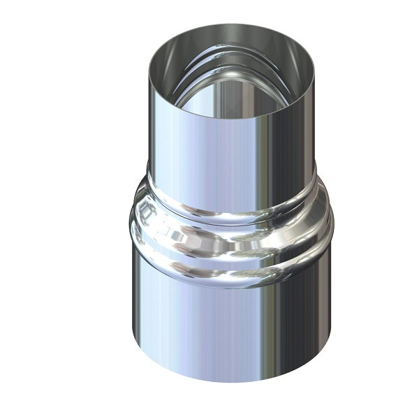 Переход для дымохода нержавейка D-120 мм толщина 1 мм
