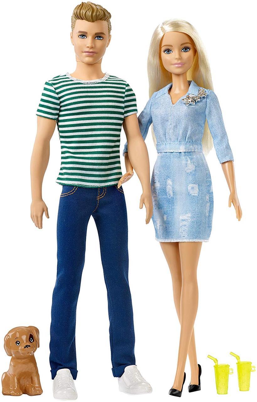 Кукла Барби с аксессуарами и Кен со щенком